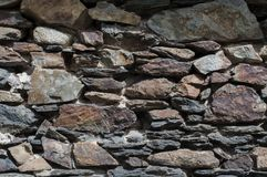 Dry stone wall in Andorra. Europe Royalty Free Stock Photography