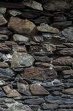 Dry stone wall in Andorra. Europe Royalty Free Stock Image