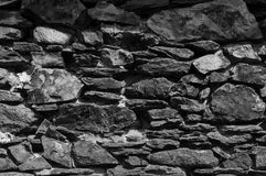 Dry stone wall in Andorra. Europe Royalty Free Stock Images