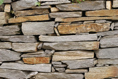 Dry stone wall background Royalty Free Stock Photo