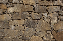 Dry stone wall background Stock Photography