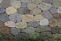 Dry stone wall. Background tiled Royalty Free Stock Photography