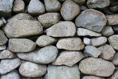 Dry Stone Wall. Close-up detail of dry stone wall Royalty Free Stock Photo