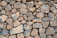 Dry stone wall close-up. Detail close-up shot of dry stone wall Stock Photos