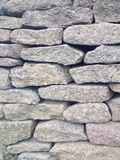 Dry stone wall close-up. Royalty Free Stock Photo
