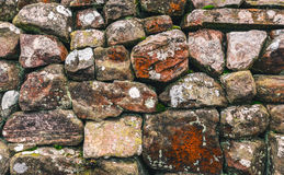 Dry stone wall. Close up shot of a traditional dry stone wall in Cumbria, UK Stock Images