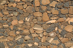 Dry-stone wall construction Stock Photos