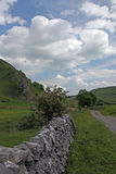 Dry stone wall in Derbyshire England. Stock Photography