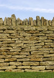 Dry stone wall detail. Batsford church, Gloucestershire, England, uk stock images