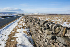 Dry stone wall in the english countryside Stock Photography