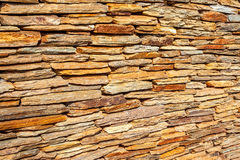Dry Stone Wall. An even dry stone wall made from similar size stones, Maropeng, Mogale, 1911, South Africa. June 1st 2010 Stock Image