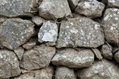 Dry stone wall in France. Dry stone wall in the south of France Stock Photography