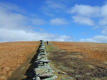 Dry stone wall on High Street Stock Photography