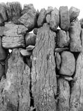 A dry stone wall on Inis Oirr. Inisheer in Irish - Aran Islands - Co Galway - Ireland Stock Photo