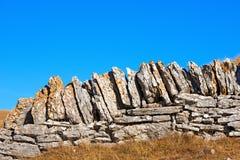 Dry Stone Wall - Lessinia Italy Royalty Free Stock Image