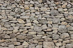 Dry stone wall. This newly built dry stone wall can work great as a background Stock Photo