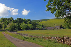 Dry stone wall in the Peak Districk National Park. England Royalty Free Stock Photos