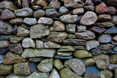 Dry stone wall, Snowdonia. Detail of an old dry-stone wall in Snowdonia National park Stock Photos