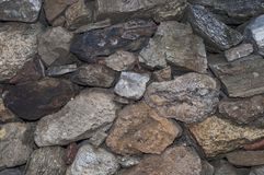 Dry stone wall in France. Dry stone wall in Taurinya, south of France Royalty Free Stock Photos