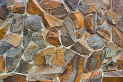 Dry stone wall texture background Stock Images