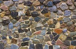 Dry stone wall texture background Stock Photography