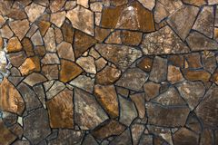 Dry stone wall texture background Stock Photos