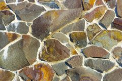 Dry stone wall texture background Stock Image