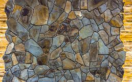 Dry stone wall texture background. Close up Royalty Free Stock Image