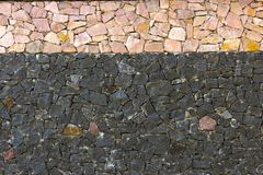 Dry stone wall texture background. Close up Stock Photography
