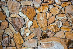 Dry stone wall texture background. Close up Royalty Free Stock Photo