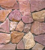 Dry stone wall texture background. Close up Royalty Free Stock Photography