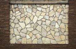 Dry stone wall texture background. Close up Stock Photo
