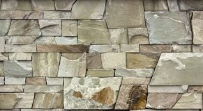 Dry stone wall texture background. Close up Royalty Free Stock Photos