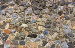 Dry stone wall texture background Stock Photo
