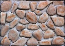 Dry stone wall texture background Royalty Free Stock Photography