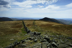 Dry Stone Wall. On Thornthwaite Crag Royalty Free Stock Photography