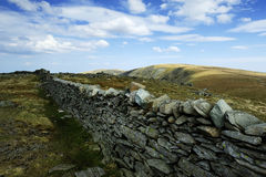 Dry Stone Wall. On Thornthwaite Crag Stock Images