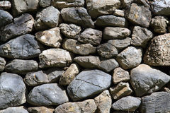 Dry stone wall. Traditional countryside dry stone wall Stock Photography