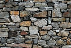 Dry stone wall. Traditional farmhouse dry stone wall Stock Image