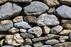 Dry stone wall. Traditional rural dry stone wall Stock Photography