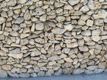 Dry Stone Wall. Ing in Valletta, Malta Royalty Free Stock Photos