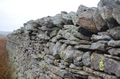 Dry stone wall. In Weardale County Durham Royalty Free Stock Photo