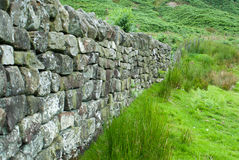 Dry stone wall. In the Yorkshire Dales National Park Stock Image