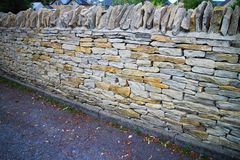 Dry stone walling fence Stock Images