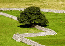 Dry stone walls stock images