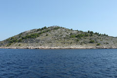 Dry stone walls on Kornati islands Royalty Free Stock Photos