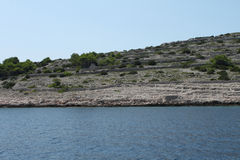 Dry stone walls on Kornati islands Stock Photography