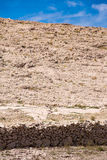 Dry stone walls, Pag island Royalty Free Stock Image