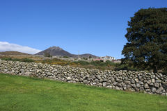 Dry stone walls typical of those found in the Mourne Mountains of County Down in Northern Ireland Royalty Free Stock Photos