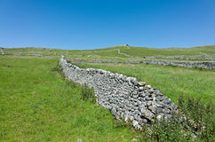 Dry stone Walls - Yorkshire Dales, England. Traditional dry stone walls in the rural landscape near Malham, Yorkshire Dales, England, UK Royalty Free Stock Image